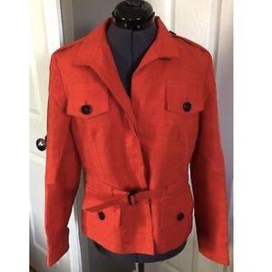 Rene Lezard Orange Button Down Jacket - 38
